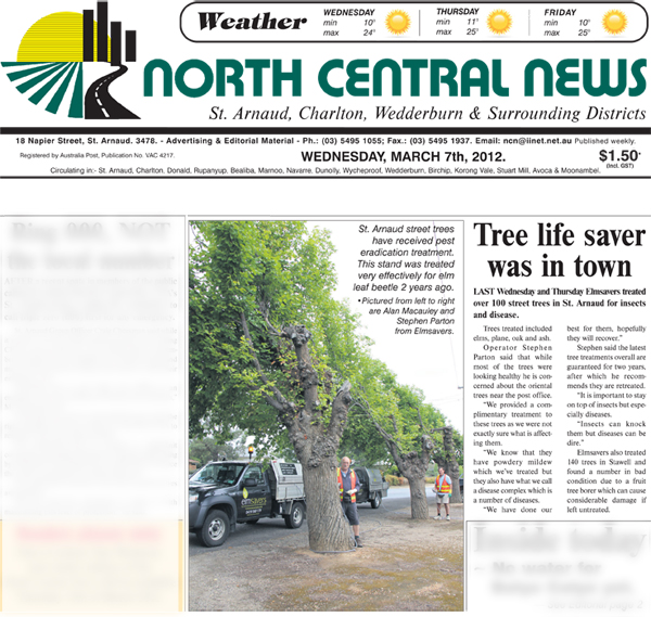 Elmsavers treating trees for Northern Grampians
